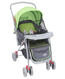 Green N Grey Upto 36 Months, Three Reclining Position Adjustable Seat Sitting-relaxi...