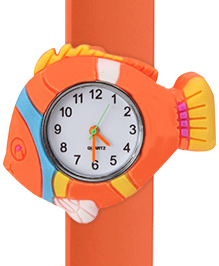 Fab N Funky - Fish Design Wrist Watch Orange