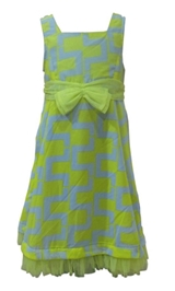 Herberto - Sleeveless Frock With Bow Applique