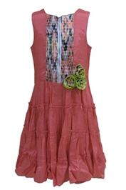 Herberto - Zipper Frock With Flower Applique