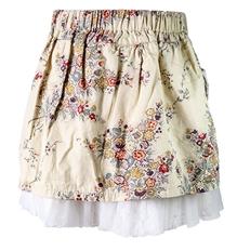 Nauti Nati - Pocket Pattern Floral Print Skirt