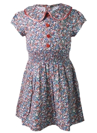 Nauti Nati - Peter Pan Collar Frock With Smocked Waist