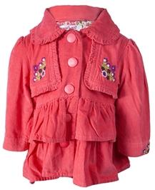 Nauti Nati - Layer Pattern Jacket With Embroidered Work