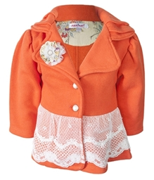 Nauti Nati - Party Wear Jacket With Flower Applique