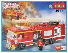 Play N Pets - Cogo Fire Fighter Blocks Set