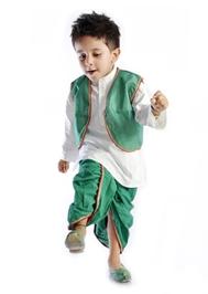 DotnDitto - Exclusive Dhoti Kurta And Jacket  Set Green