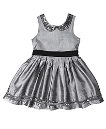 ShopperTree - Sequins Decorated Pleated Party Frock