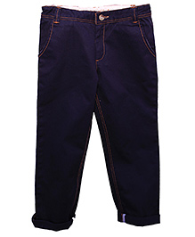 ShopperTree - Casual Navy Blue Twill Trouser