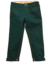 ShopperTree - Casual Twill Dark Green Plain Trouser