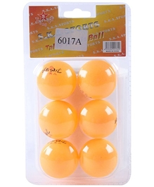 Fab N Funky - Orange Ping Pong Ball Set Of 6