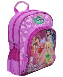 Disney Fairies - Pink Disney Fairies Print Nursery Bag 12 Inches