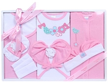 Montaly Pink Nine Piece Gift Set