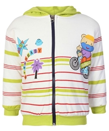 Gogo Printed Full Sleeves Hooded Jacket Large, 12 - 18 Months, Stylish 100% cotton full sleeves Jacket