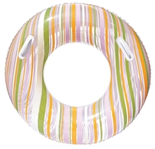 Bestway Striped Swim Tube Green And Yellow