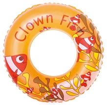 Bestway - Swimming Ring Clown Fish Print 20 Inches Orange
