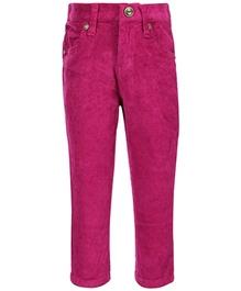 Gini & Jony - Fixed Waist Full Length Purple Trouser