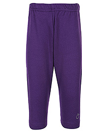 Gini & Jony - Full Length Plain Purple Legging
