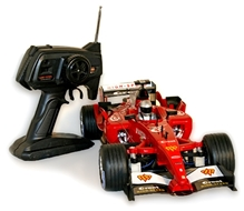 Adraxx F1 Full Action Remote Control Car Model With Flashing Light 6 Years+, Red, Made Of Die Cast Sinc Alloy