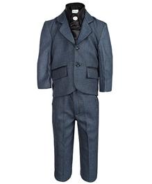 Babyhug 4 Piece Party Wear Suit Blue