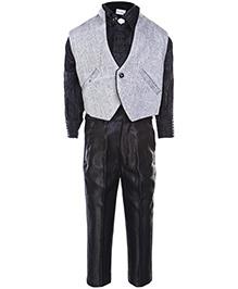 Babyhug 4 Piece Party Wear Suit Black