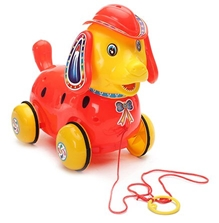 Luvely - Pull Along Fantastic Red Puppy Toy