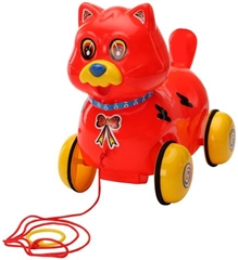 Luvely - Pull Along Fantastic Red Cat Toy