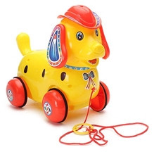 Luvely - Pull Along Fantastic Yellow Puppy Toy