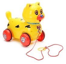 Luvely - Pull Along Fantastic Yellow Cat Toy