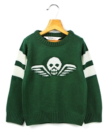 Beebay - Full Sleeves Skull Design Sweater