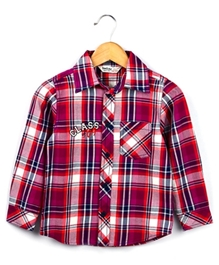 Beebay - Elbow Patch Checked Shirt