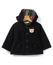 Beebay - Full Sleeves Hooded Jacket - 3 - 6 Months