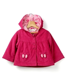 Beebay - Corduroy Full Sleeves Jacket With Bow