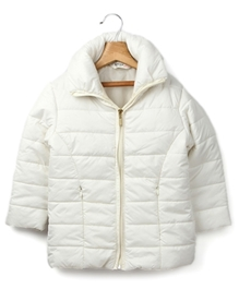 Beebay - Ivory Long Quilted Jacket