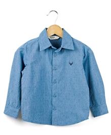 Beebay - Full Sleeves Small Blue Dots Shirt