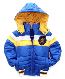 Beebay - Full Sleeves Quilted Jacket With Removable Hood