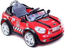 Fab N Funky Mini Cooper 6V Electric Ride On Car Red