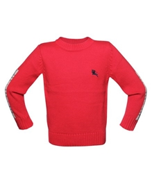 Plain Red Pull Over Sweater