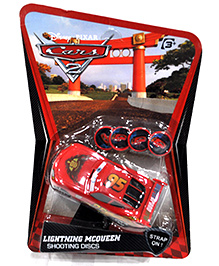 Disney Pixar Cars 2 - Lightning McQueen Shooting Discs Toy Red