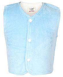 Baby Hug Sleeveless Jacket Plain Blue