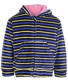 Baby Hug Full Sleeves Hooded Jacket - Blue