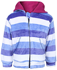 Stripes Size 4, 3 - 4 Years, Stylish dual color hood jacket to keep your kid warm...