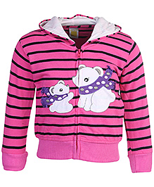 Full Sleeves Hooded Jacket Animal Patch 9 Months, Smart winter jacket to protect your kids for chilly weather