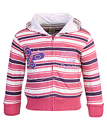 Full Sleeves Hooded Jacket With Machine Embroidery 24 Months Smart winter jacket to protect your kids from chilly weather