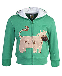 Full Sleeves Hooded Jacket With Cow Patch 9 Months, Soft comfortable hooded jacket to keep your kid warm and cozy
