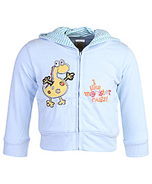 Full Sleeves Hooded Jacket With Side Pockets And Machine Embroidery 9 Months, Soft comfortable full sleeves jacket to protect your child from...