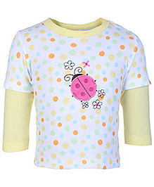 Carters Doctor Sleeves T Shirt - Ladybug Patch