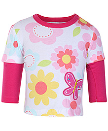 Carters Doctor Sleeves T Shirt - Butterfly Patch