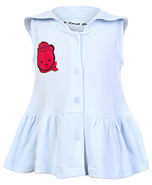 Do You Speak Green - Sleeveless Organic Cotton Frock With Bloomer