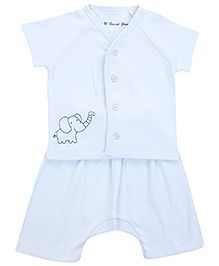 Do You Speak Green - Half Sleeves Top And Diaper Short Night Wear