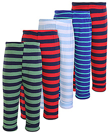 Carters Stripes Print Multi Colour Legging - Set Of 5